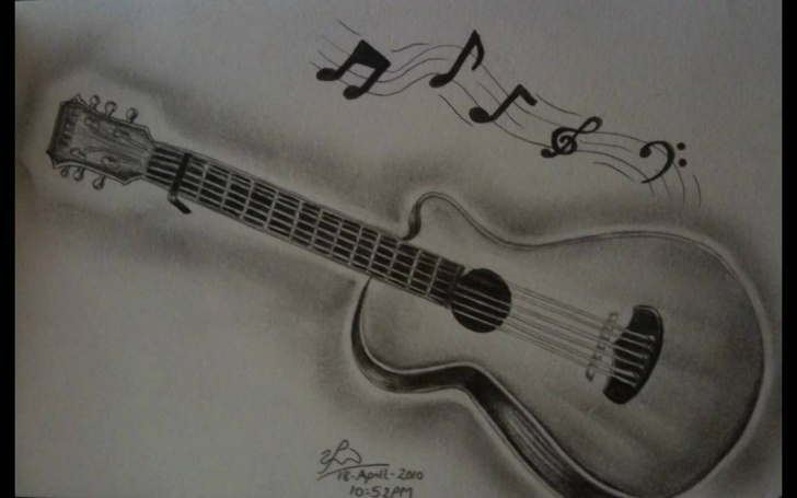 Inspiration Music Drawings In Pencil Lessons Guitar Pencil Drawing Pics