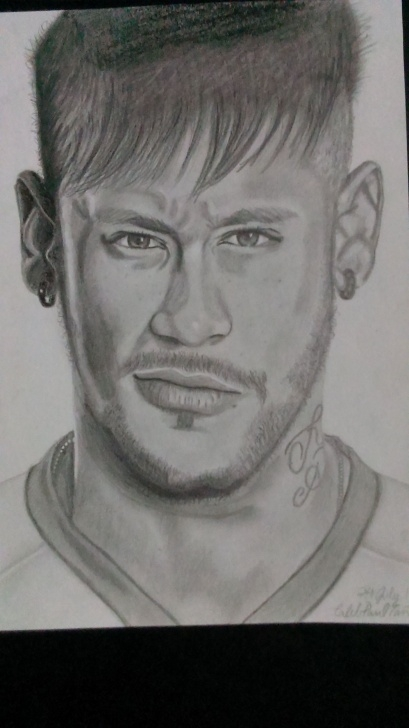 Inspiration Neymar Pencil Drawing for Beginners Pencil Drawing Of Neymar Jr. | Caleb's Drawings | Pencil Drawings Photo