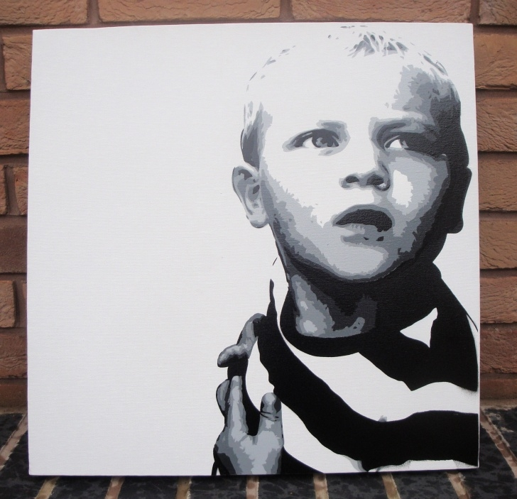 Inspiration Painting On Canvas With Stencils Free Samson Rogers Stencil On Canvas | Daler Rowney Picture