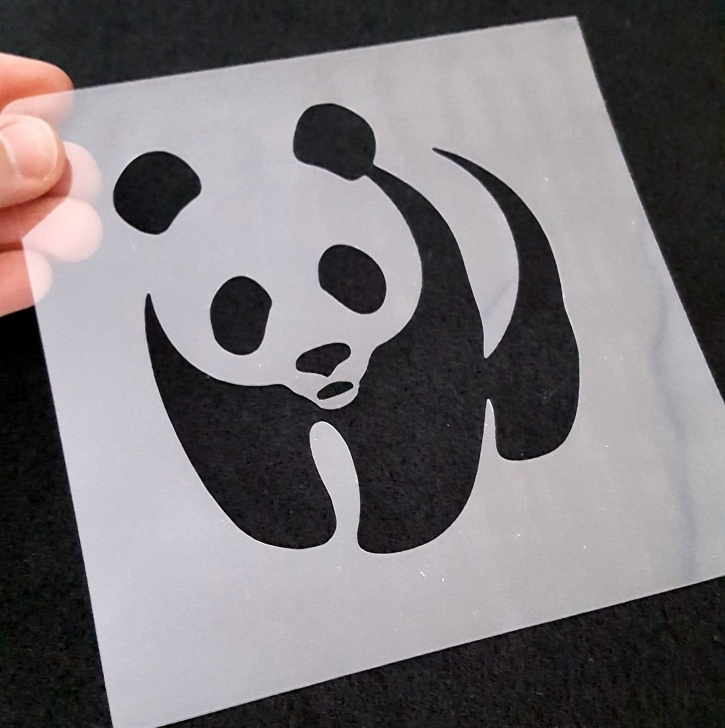 Inspiration Panda Stencil Art Ideas Panda Stencil, Animal Stencil, Tracing Panda Stencil, Panda Invitation Diy,  Panda Party, Panda Gift, Panda Bear Stencil, Panda Shirt Stencil Photo
