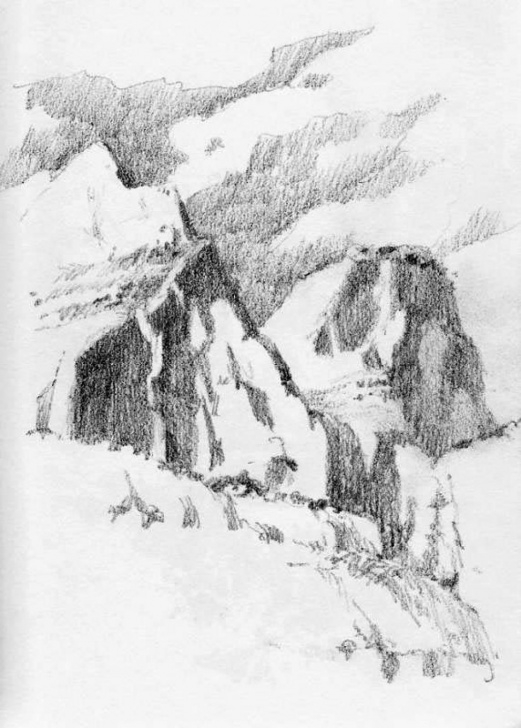 Inspiration Park Pencil Drawing Techniques Zion National Park Sketchbook – Roland Lee Pic