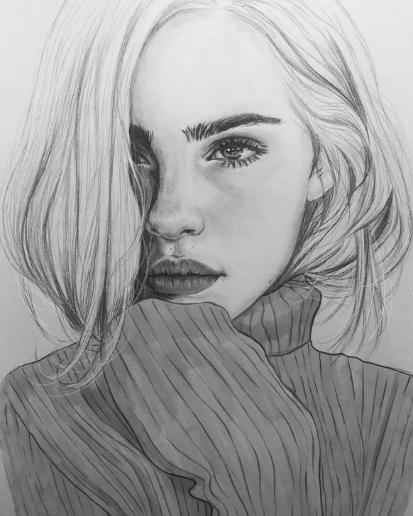 Inspiration Pencil Art Girl Courses I Love #blackandwhite Drawings. | Artwork In 2019 | Drawings Pictures