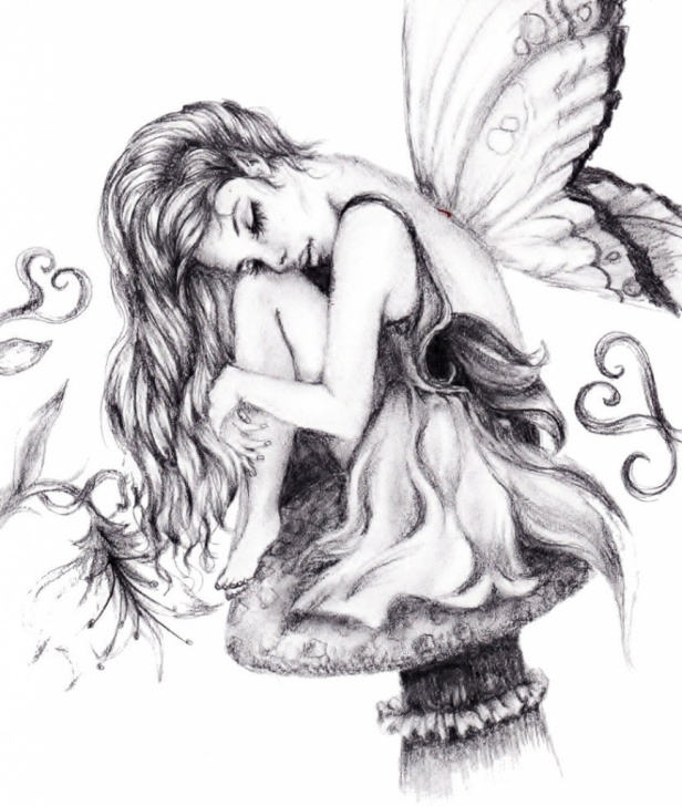 Inspiration Pencil Drawing Fairies Ideas Fairies Paintings Search Result At Paintingvalley Images