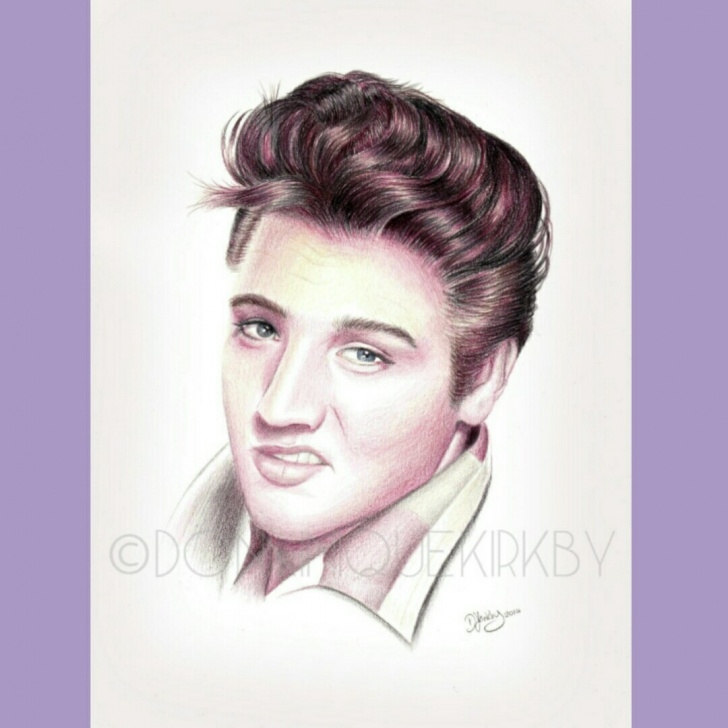Inspiration Pencil Drawing Of Elvis Presley Ideas Elvis Presley Pencil Drawing Print. A4 Print Of My - Depop Pictures