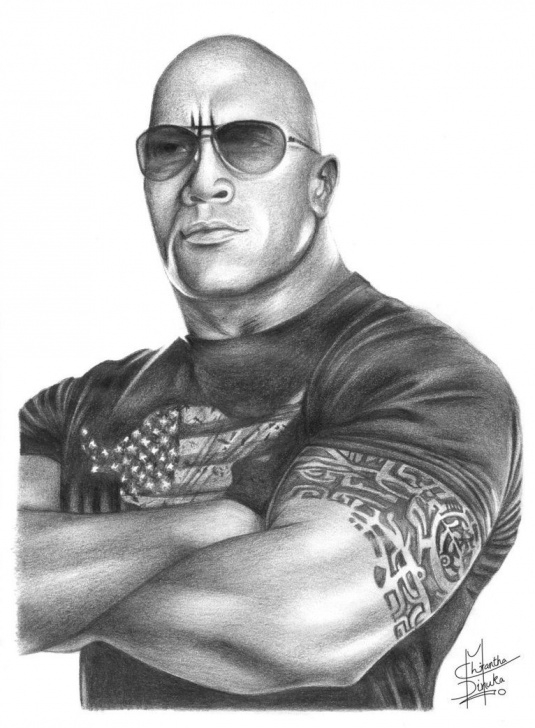 Inspiration Pencil Drawings Of People Ideas Pencil Drawings Of Famous People | The Rock Pencil Drawing By Pic