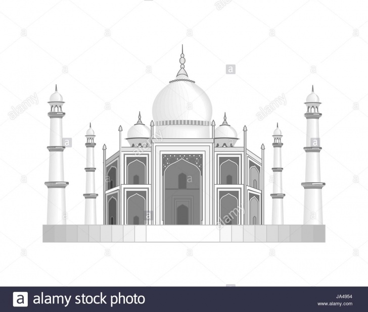 Inspiration Pencil Drawings Temple for Beginners The Taj Mahal Temple In India. Stylized As A Pencil Drawing Stock Image