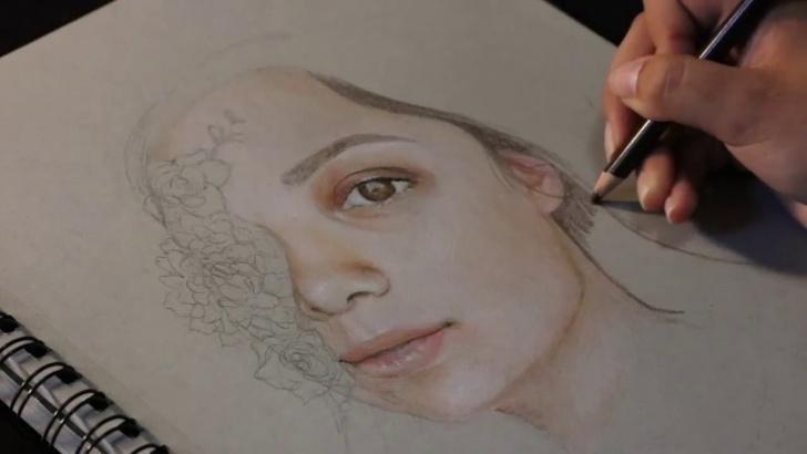 Inspiration Pencil Self Portrait Tutorial Colored Pencil Self Portrait // Harvard F.a.p. Application Pictures