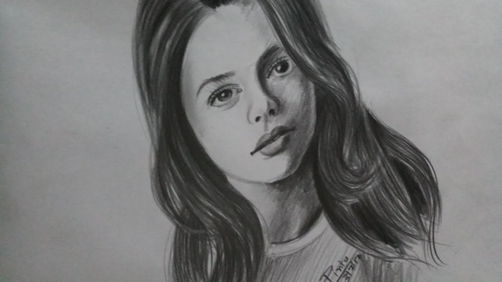 Pencil Shading Of Girl