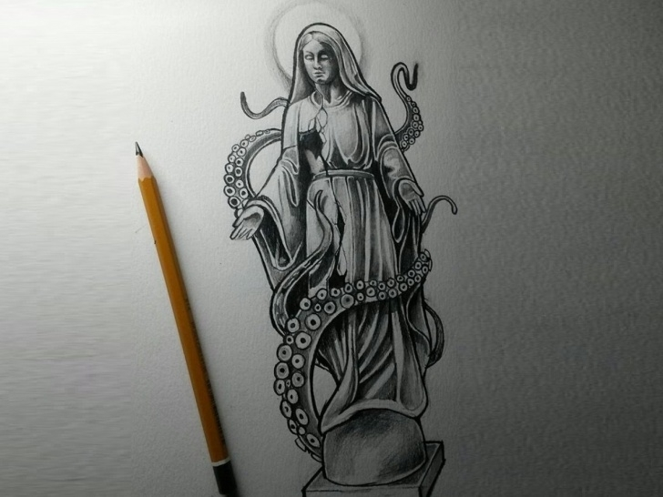 Inspiration Pencil Sketch Design Techniques Tentacles • Pencil Sketch By Anne Leah V. On Dribbble Picture