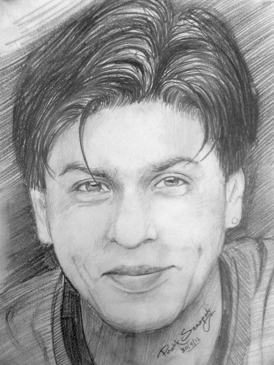 Inspiration Pencil Sketch Of for Beginners Pencil Sketch Of Shahrukh Khan | Desipainters Photo