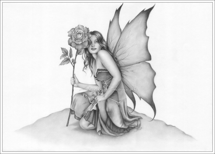 Inspiration Pencil Sketches Of Fairies And Angels Techniques for Beginners Pencil Flower Drawings In 2019 | Coloring Fantasy Pinups | Fairy Photos