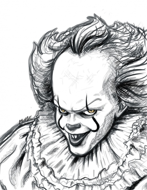 Inspiration Pennywise Pencil Drawing Courses Messy Portrait Of Pennywise~ - Қrazy's Blog | It In 2019 | Pencil Pictures