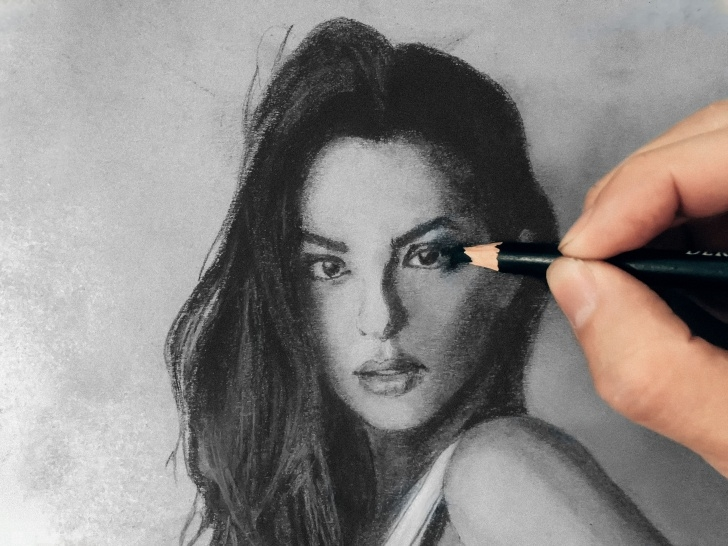 Inspiration Realistic Charcoal Drawing Step by Step Drawing A Girl - How To Draw Using Charcoal - Realistic Art — Steemit Image