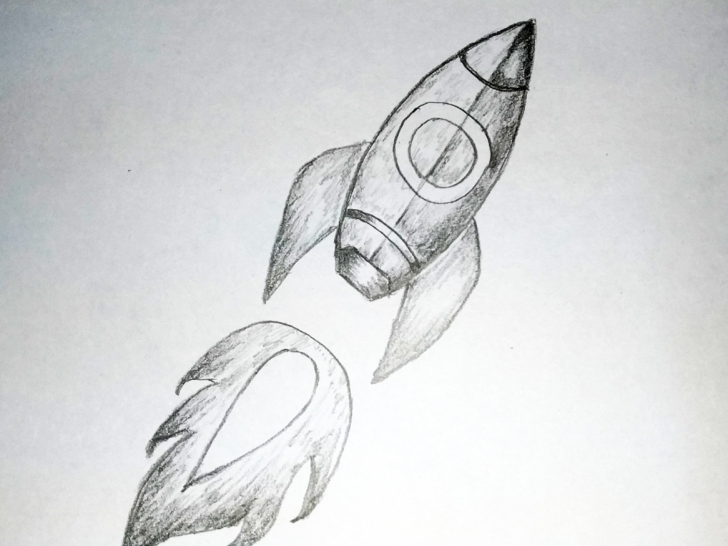 Inspiration Rocket Pencil Drawing Simple Rocket Art By Mlspcart On Dribbble Image
