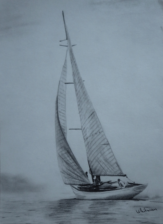Inspiration Sailboat Pencil Drawing for Beginners Yacht Sailing. Graphite/pencil Drawing By Elena Whitman | Art In Pictures