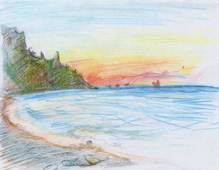 Inspiration Sea Pencil Drawing Step by Step Sea Pencil Sketch | Sea; Doodle; Sketch; Seaside; Beach; Oce… | Flickr Photo