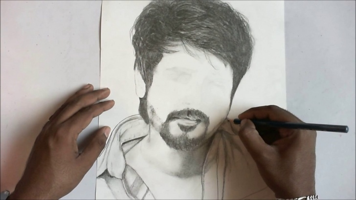 Inspiration Sivakarthikeyan Pencil Drawing Techniques Portrait Of Sivakarthikeyan By Anbuchezhian Pictures