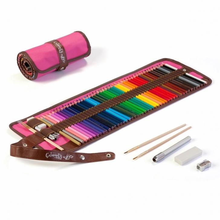 Inspiration Soft Grade Pencil Tutorials Colorarty 48 Vivid Watercolor Pencil Set (Pink Edition), Artist Photos