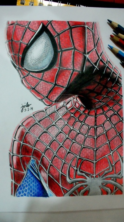 Inspiration Spiderman Pencil Sketch Techniques The Amazing Spider-Man 2 Color Pencil Drawing By Mjforyou On Picture