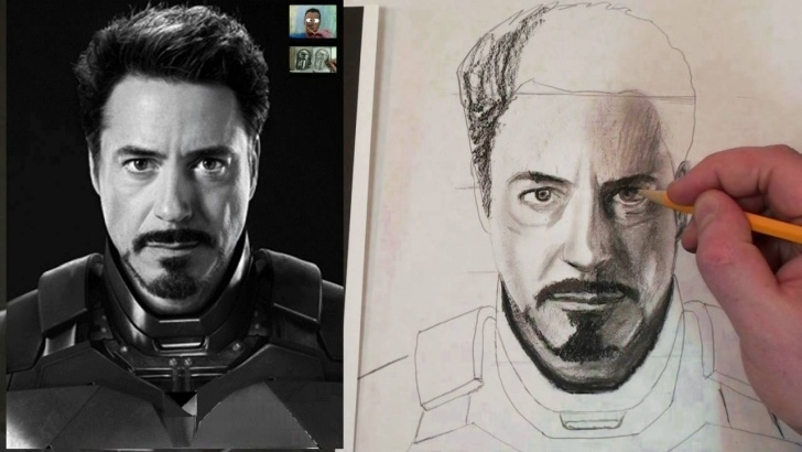 Inspiration Step By Step Charcoal Portrait Courses How To Draw Iron Man Tony Stark Step By Step Charcoal And Fixative Tutorial Pictures