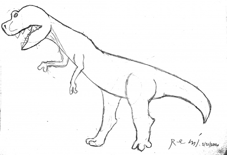 Inspiration T Rex Pencil Drawing Step by Step T-Rex Pencil Drawing By 6 Year Old. - Imgur Photo