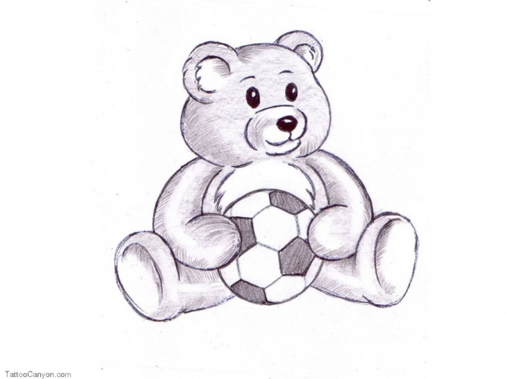 Inspiration Teddy Bear Drawings Pencil Easy 755-Free-Designs-Teddy-Bear-And-Ball-Tattoo-Wallpaper-Tattoo-Design Photos