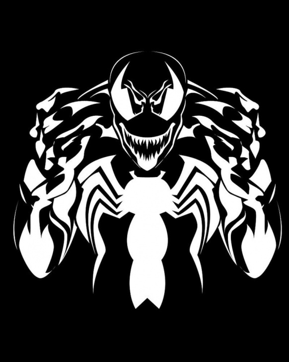 Inspiration Venom Stencil Art Simple Stencil Venom - Buscar Con Google | Vinyls Or Wood Burned Ideas Pictures