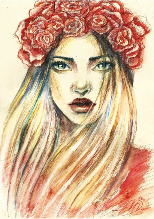 Inspiration Watercolor Pencil Portrait Lessons Watercolor Pencil Painting At Paintingvalley | Explore Images