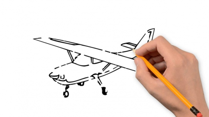Inspiring Aeroplane Pencil Drawing Techniques Aeroplane Sketch At Paintingvalley | Explore Collection Of Picture