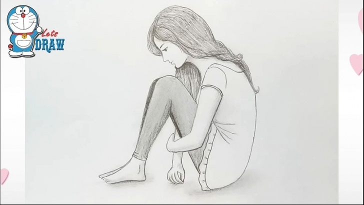 Inspiring Alone Pencil Sketch Lessons Alone Girl Pencil Sketch / How To Draw A Girl Pic
