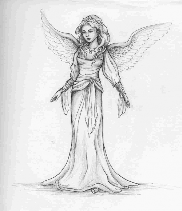 Inspiring Angel Pencil Drawing Courses Traditional Angels Angel Pencil Drawing Images Drawings Angel Pencil Picture