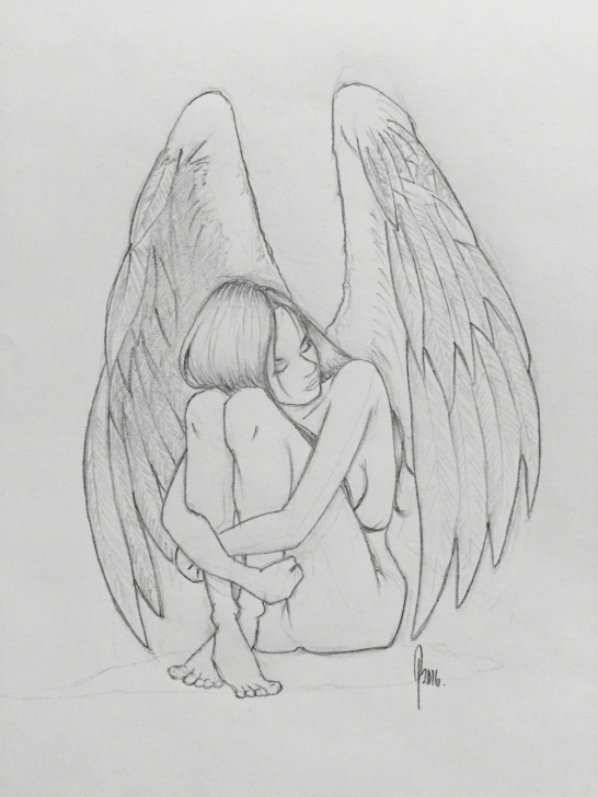 Angel Pencil Sketch