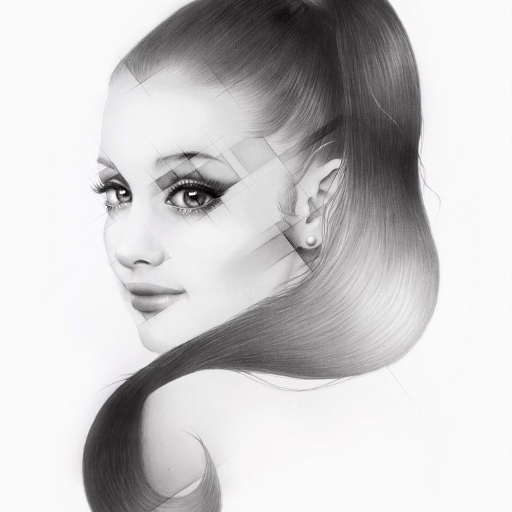 Inspiring Ariana Grande Pencil Drawing Techniques for Beginners Ariana Grande Pencil Drawing - Silvie Mahdal - The Art Of Pencil Pics