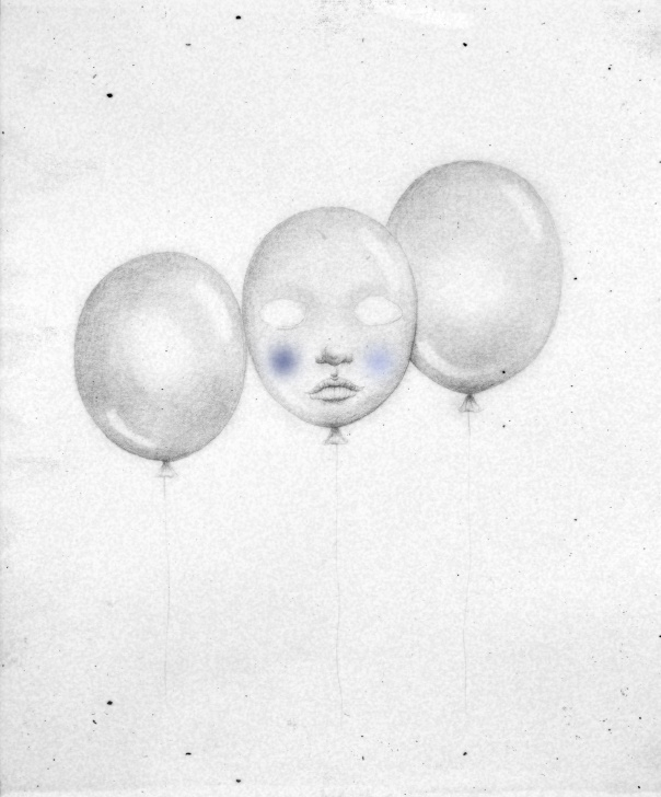 Inspiring Balloon Pencil Drawing Tutorials Balloon Face. Black And White Illustration, Pencil Drawing Picture