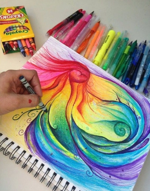 Inspiring Beautiful Crayon Drawings Courses Beautiful | Energy Art | Art, Original Art, Crayon Art Pics
