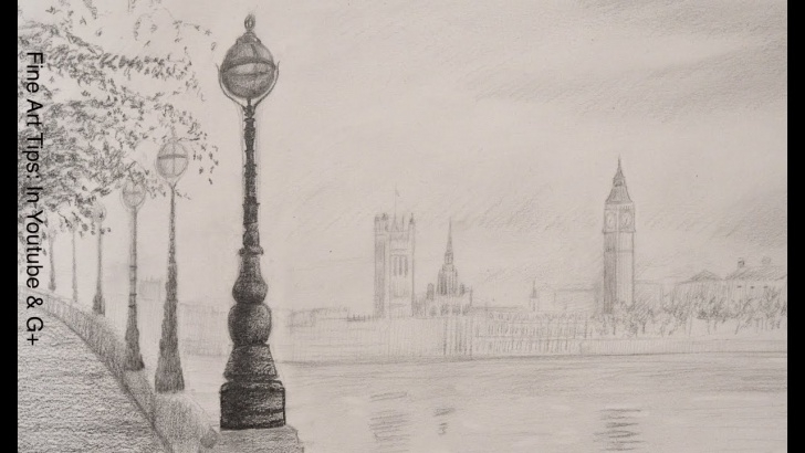 Inspiring Big Ben Pencil Drawing for Beginners How To Draw The Big Ben - How To Draw A Landscape Pics