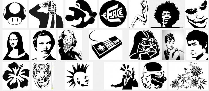 Black Stencil Art