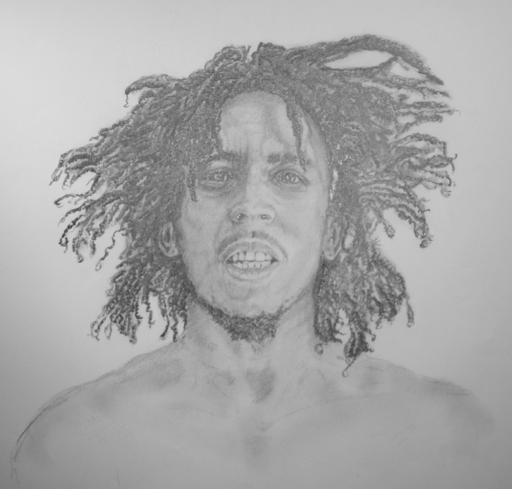 Inspiring Bob Marley Pencil Sketch Step by Step Pencil Drawing Of Bob Marley | Art | Pencil Drawings, Art, Drawings Pictures
