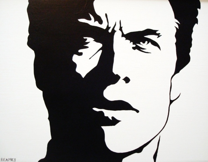 Inspiring Clint Eastwood Stencil Art Tutorial Clint Eastwood: Black & White Pop Art. $69.00, Via Etsy. | Artwork Pictures