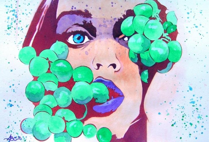 Inspiring Color Stencil Art Lessons Let Her Eat Grapes Stencil Art | Bryce Chisholm's Art Image