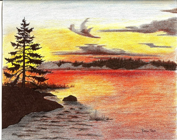 Inspiring Colored Pencil Sunset Tutorial Sunset Colored Pencil Drawing | Metz2009 | Flickr Photo