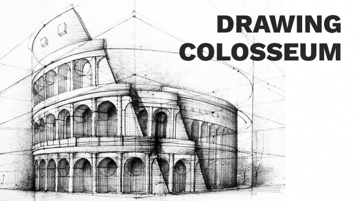 Inspiring Colosseum Pencil Sketch Step by Step Colosseum Sketch At Paintingvalley | Explore Collection Of Image