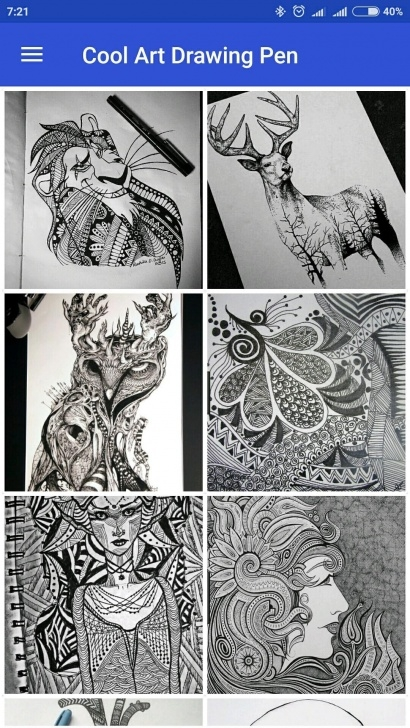 Inspiring Cool Pen Art for Beginners Cool Art Drawing Pens For Android - Apk Download Picture