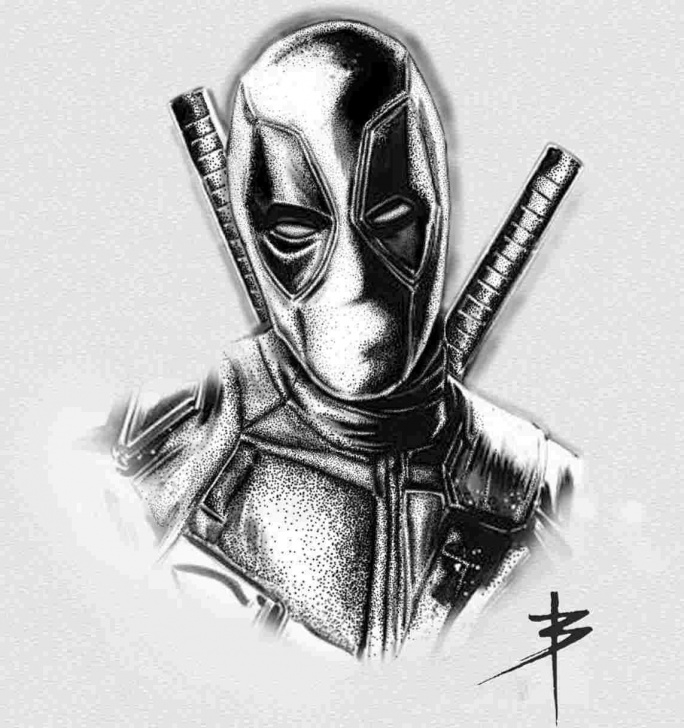 Inspiring Deadpool Pencil Drawing Step by Step Pencil Black And White Deadpool Pencil Drawing Sketch Of Deadpool Picture