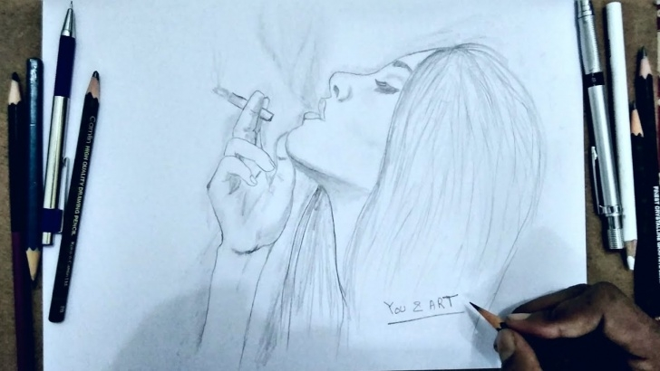 Inspiring Drawing Smoke With Pencil Lessons Smoking Girl Pencil Drawing| How To Draw A Smoking Girl?#youandart Photos