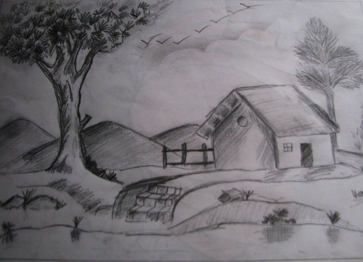Inspiring Easy Pencil Shading Drawings Scenery Simple Pencil Shading Sketches At Paintingvalley | Explore Collection Pic