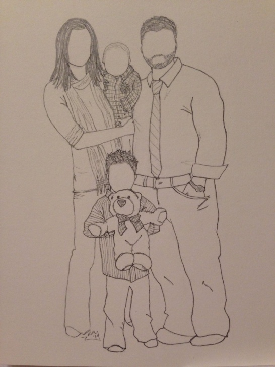 Inspiring Family Pencil Sketch Simple Pin By Rebecca Anderson On Artistic Inspiration In 2019 | Family Photo