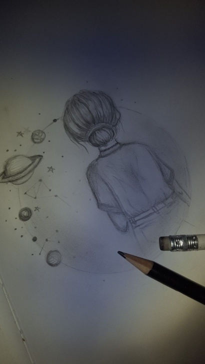 Inspiring Galaxy Drawing Pencil Easy Pinterest ↠@lovelikelollies | Sketch | Art Drawings, Drawings Pictures