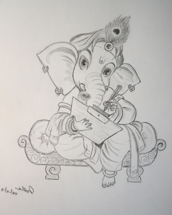 Inspiring Ganpati Pencil Sketch Tutorial Ganapathi Paintings Search Result At Paintingvalley Image