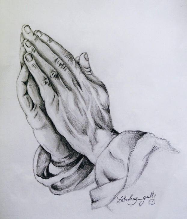 Inspiring Hand Pencil Drawing Tutorial Praying Hands | God |Sketch | Art | Artwork | Drawing | Pencil Art Photo